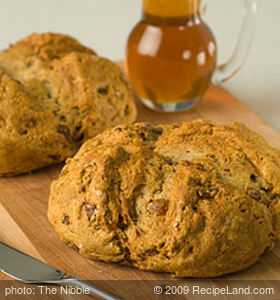 Yogurt Irish Soda Bread with Raisins