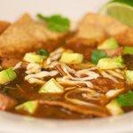 Sopa de Tortilla (Vegetarian Tortilla Soup)