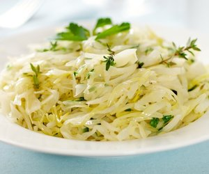 Braised Cabbage with Thyme and Parsley