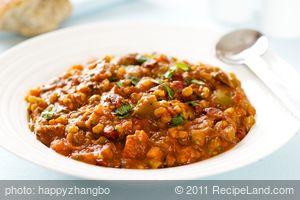 Kidney Bean and Barley Chili