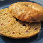 Pumpkin Spice Bagels with Dried Cranberries