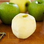 Peel the apples.