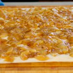 Spread apple mixture on top;