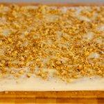 Sprinkle remaining nut mixture on top, sprinkle with bread crumbs.