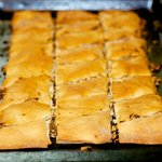 Bake in 400 degrees F oven for 35 to 40 minutes or until golden.