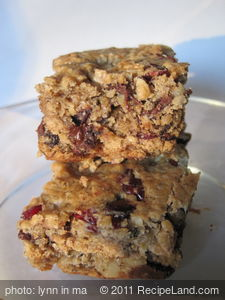 Chocolate Chip, Banana, Oat Squares