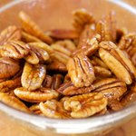 Make the candied pecan halves.