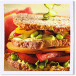 Smoked Gouda Veggie Club Sandwich