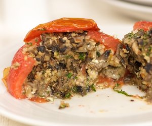 Mushroom Stuffed Tomatoes