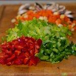 Prepare the vegetables.