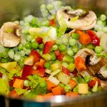 Add the other vegetables into the pot.