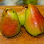 Work on these beautiful pears first.