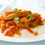 Beef Strips in Sweet Pepper Sauce