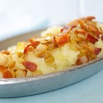 Mashed Potatoes and Apples with Bacon and Onions