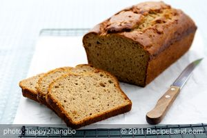 100% Whole Wheat Banana Bread