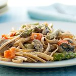 An easy and delicious way to enjoy pasta and fresh veggies.