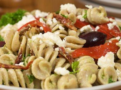 Leftover Greek Pasta Salad