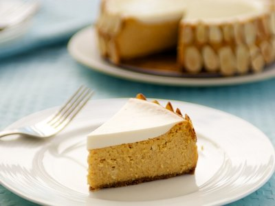 Pumpkin Cognac Cheesecake