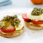 Poached Eggs Caprese For Two