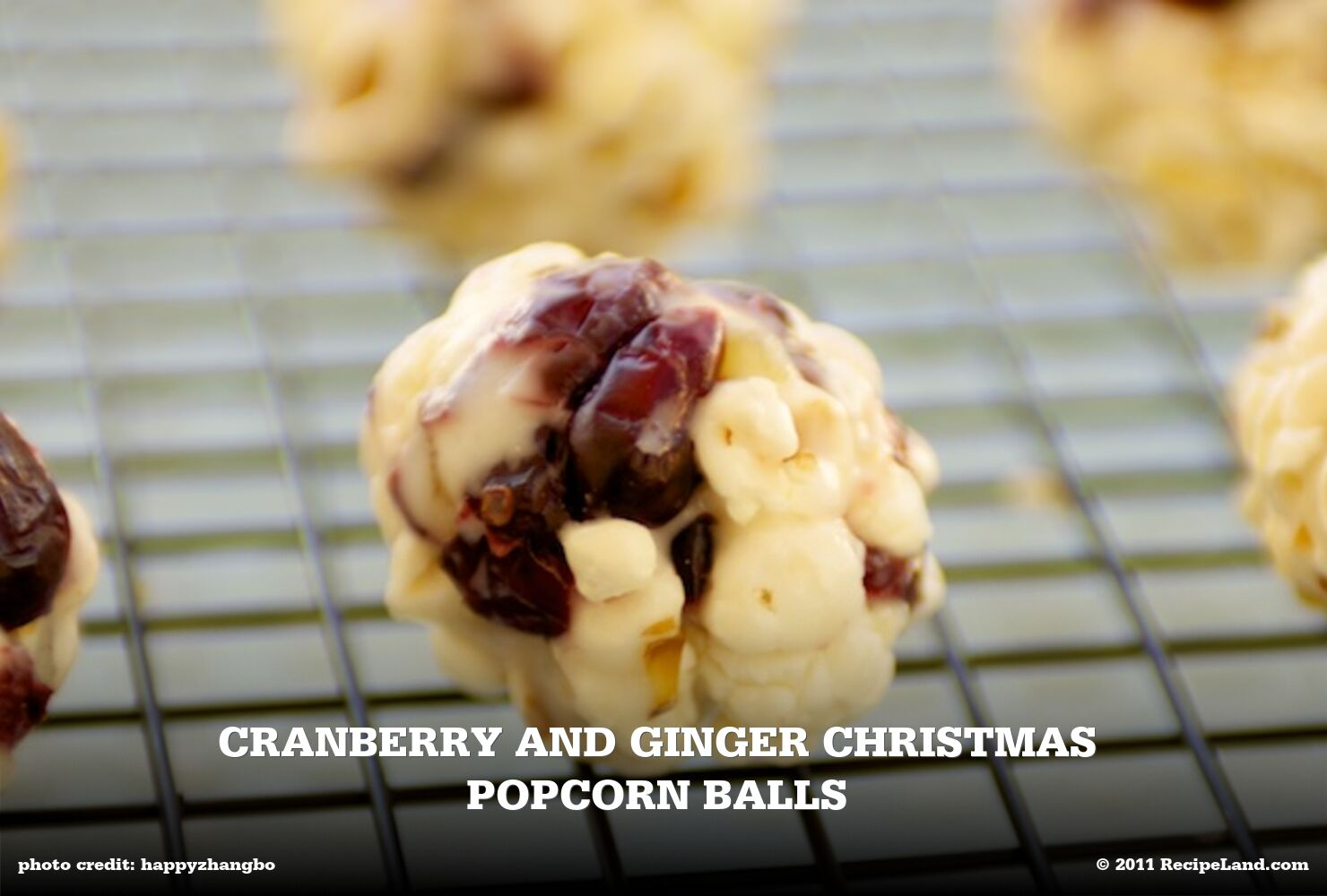 Cranberry and Ginger Christmas Popcorn Balls