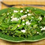 Sugar Snap Watercress Salad with Warm Sesame Dressing