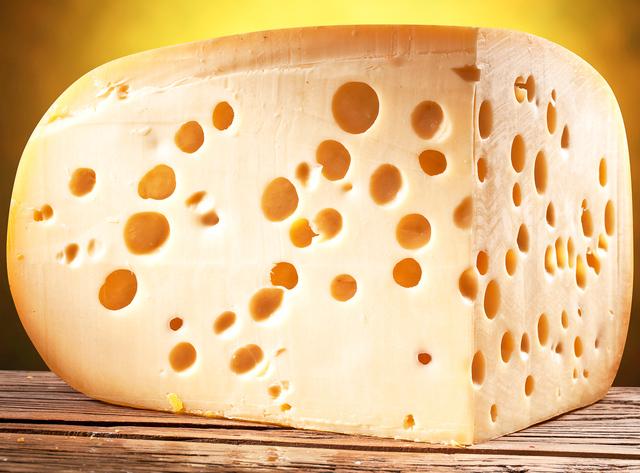 emmentaler cheese quarter round
