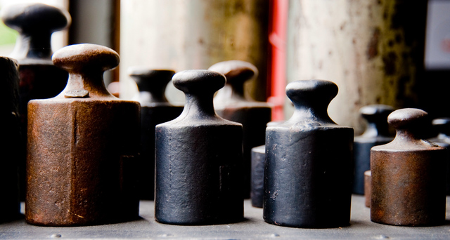 vintage set of weights