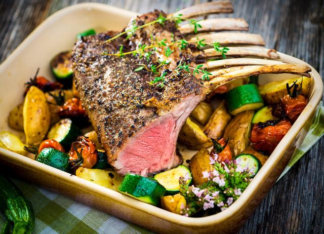 Perfect roasted lamb temperature - rack of lamb