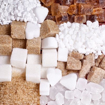 Variety of different sugars