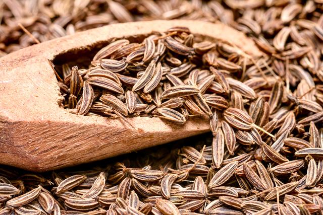 Caraway seeds close-up