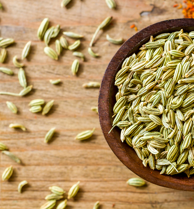 Fennel seeds close-up