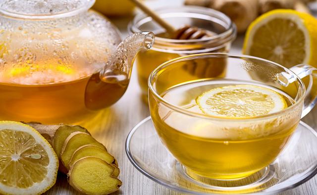 Lemon, honey, ginger tea