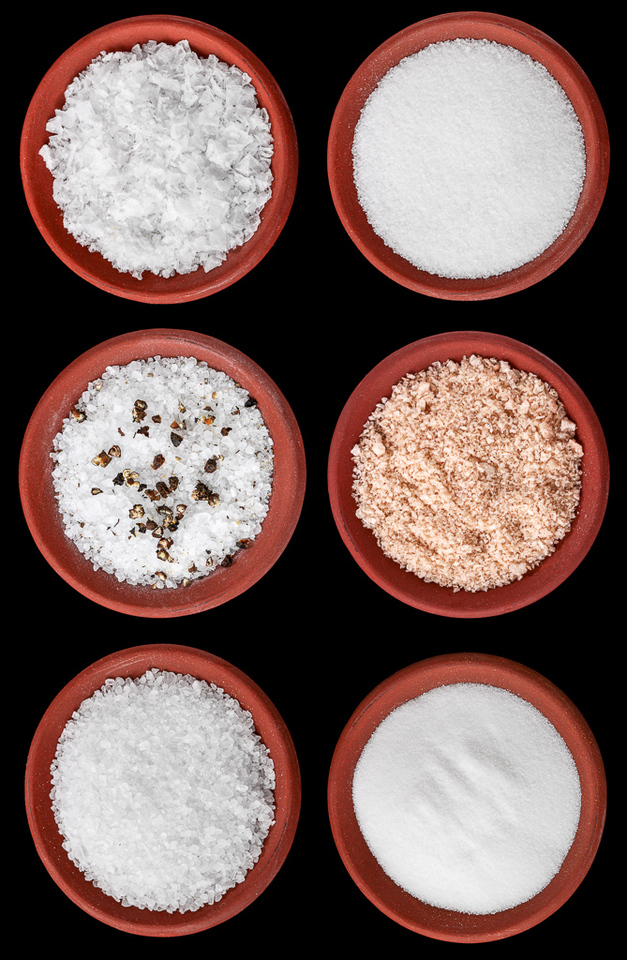 Varieties of sea salts