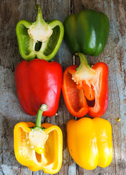 colourful sweet bell peppers
