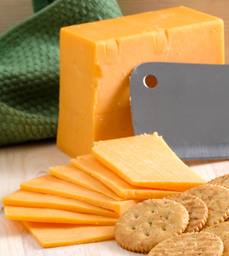 cheddar cheese block and sliced