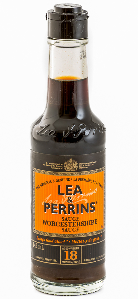 bottle of Worcestershire sauce