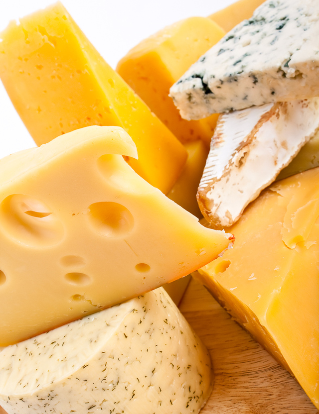 assortment of cheeses