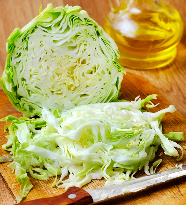 cabbage, halved sliced