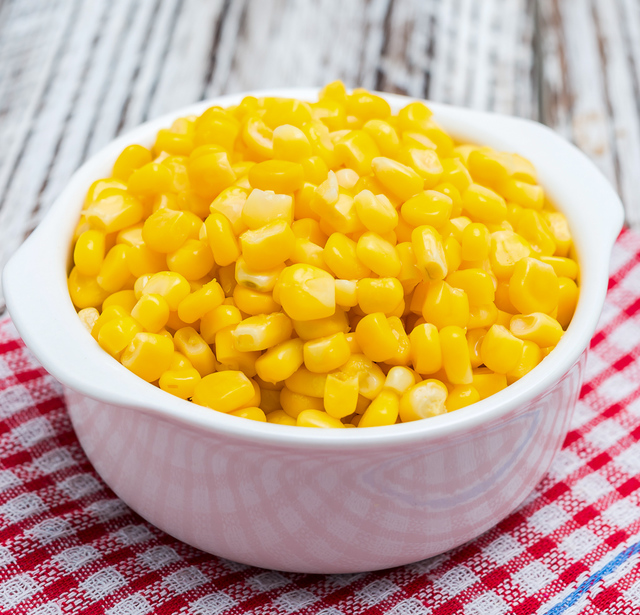 corn kernels in a bowl