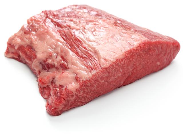 Piece of raw beef brisket