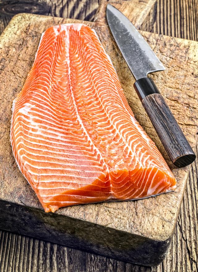 whole salmon fillet