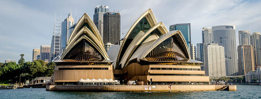Sydney Opera House at Sunset -  by Hpeterswald