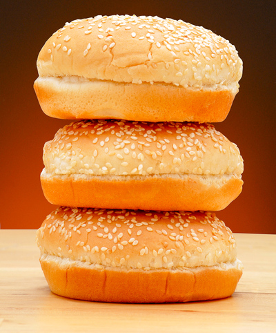 hamburger buns with sesame seeds