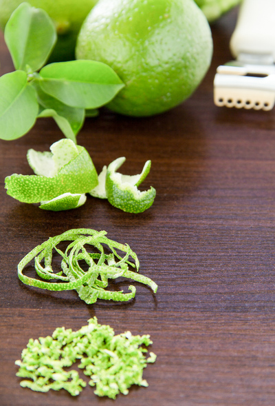 lime zest and peel