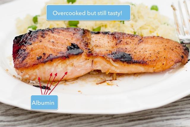 Overcooked maple glazed salmon