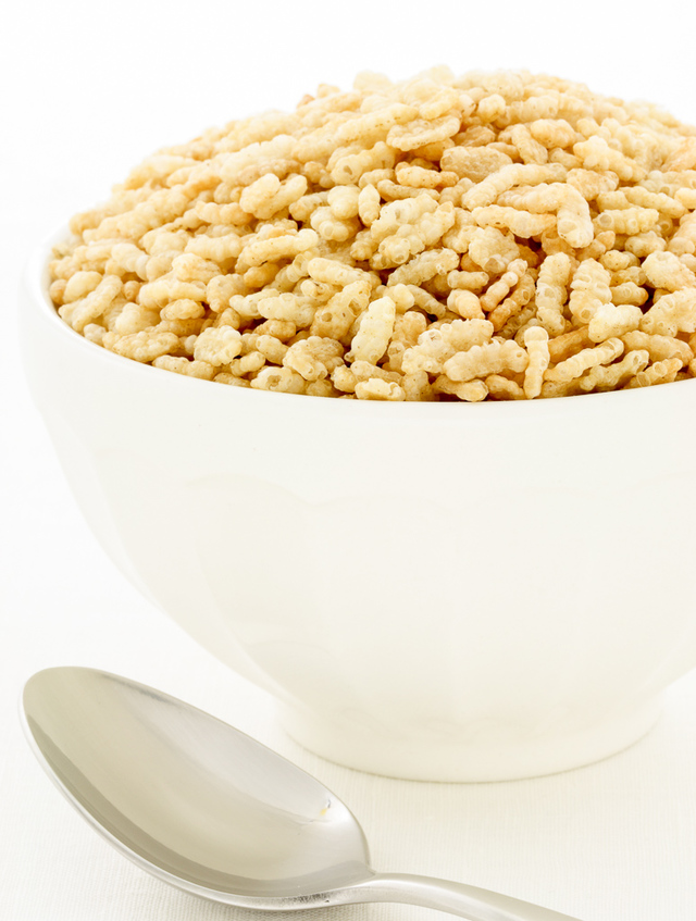 crisped rice cereal (rice krispies)