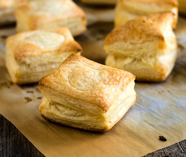 puff pastry, cooked