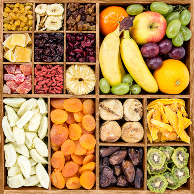 variety of dried fruits