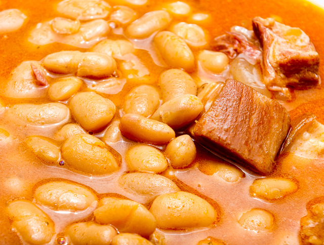 canned beans with pork