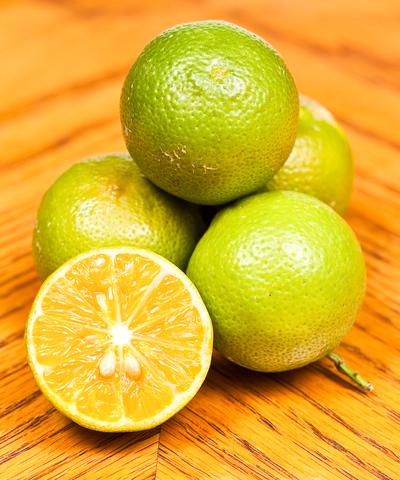 key limes close-up